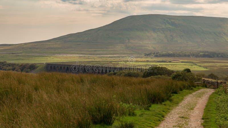Viadotto di Ribblehead, North Yorkshire, Regno Unito fotografia stock