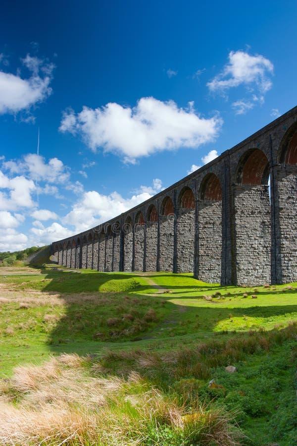 Viadotto famoso di Ribblehead nel parco nazionale delle vallate di Yorkshire immagine stock libera da diritti
