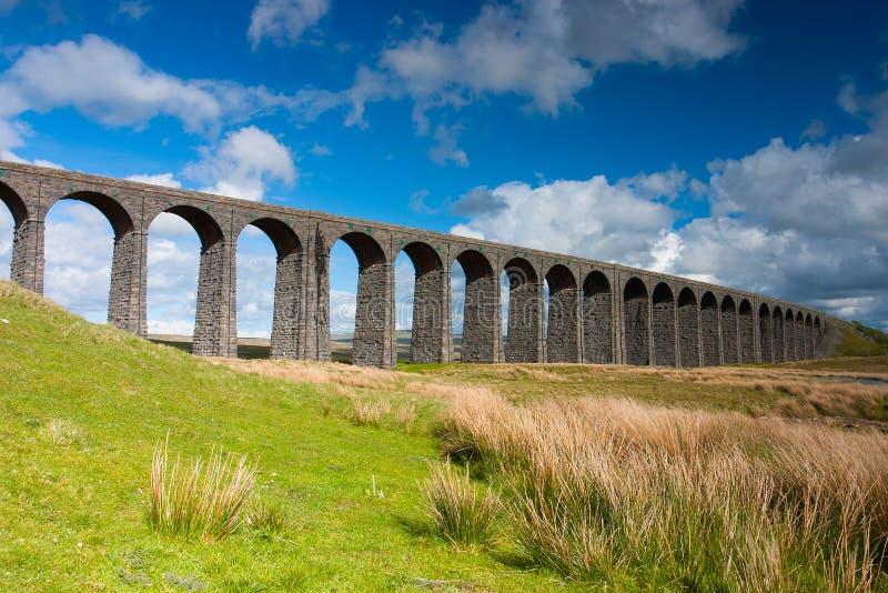 Viadotto famoso in vallate di Yorkshire, Inghilterra di Ribblehead È 440 y fotografie stock