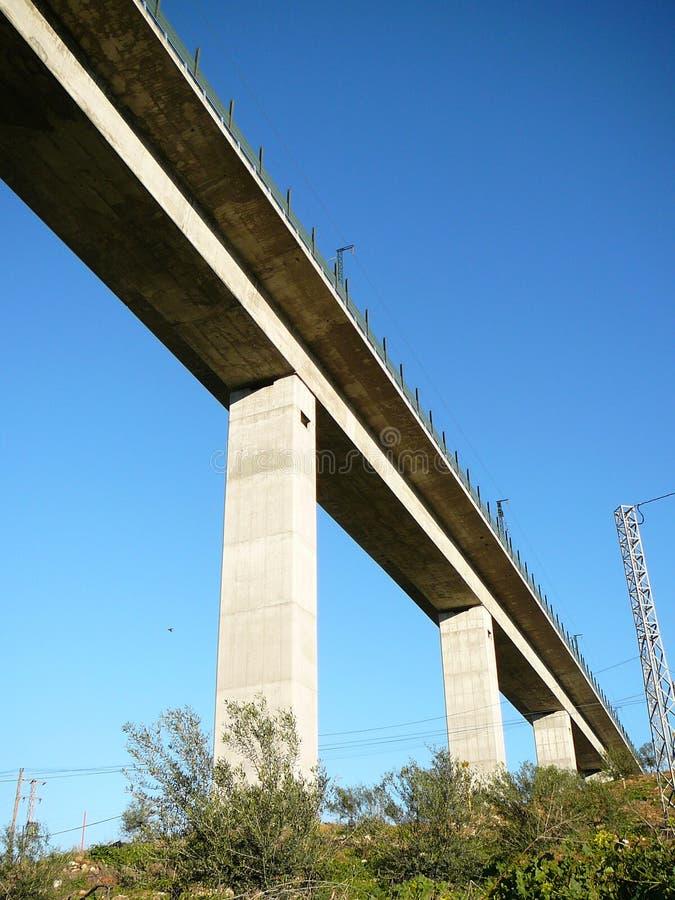 Viadotto ferroviario ad alta velocità immagine stock
