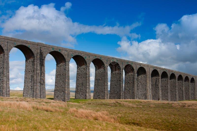 Viadotto nelle vallate di Yorkshire, Inghilterra di Ribblehead fotografie stock libere da diritti