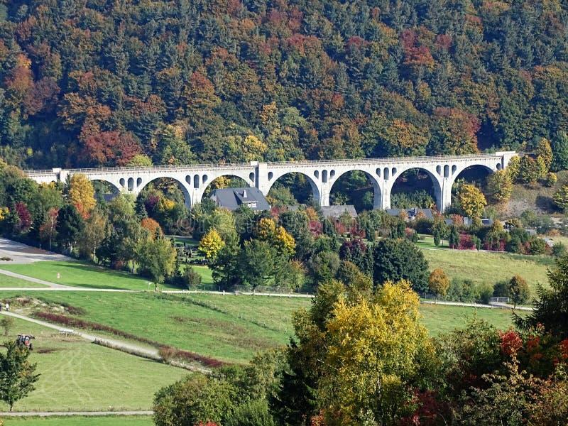 Viadotto Sauerland/Germania di Willingen fotografie stock