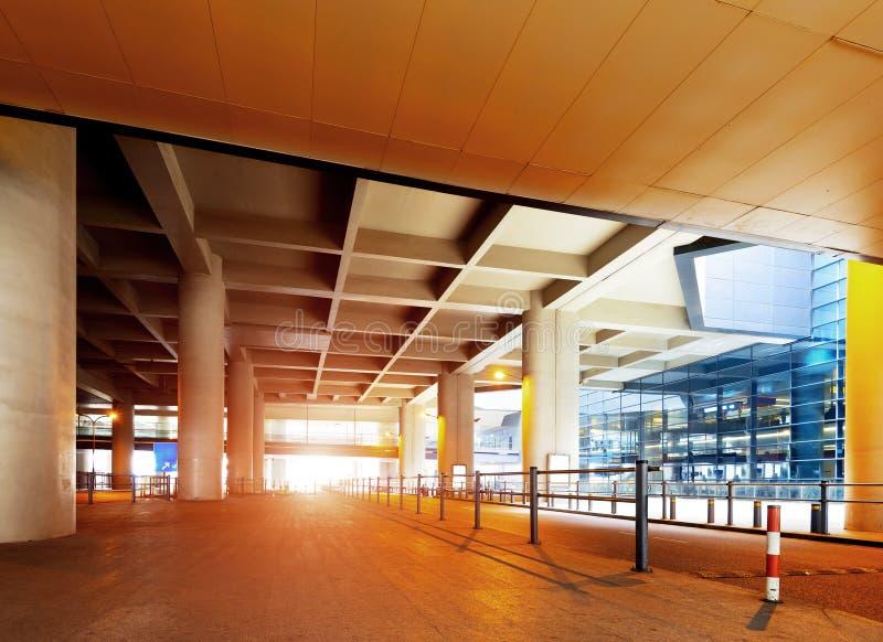 Viaduc d'aéroport image stock
