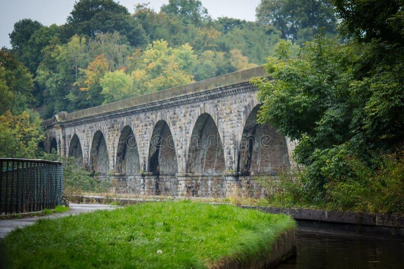 Viaduc d'aqueduc et de chemin de fer chez Chirk photos libres de droits