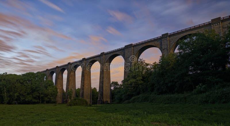 Viaduc de Barbin en France images libres de droits