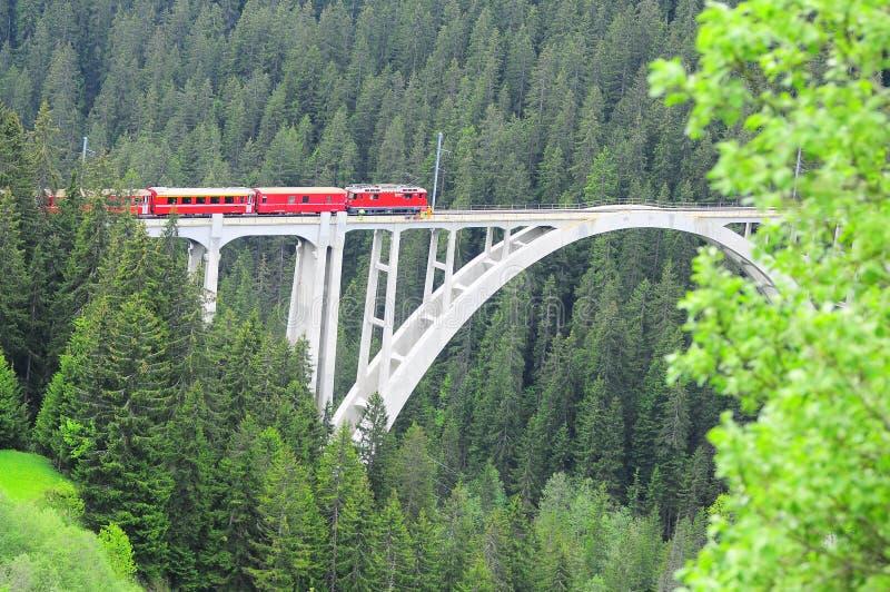 Viaduc de Langwiesser. images stock