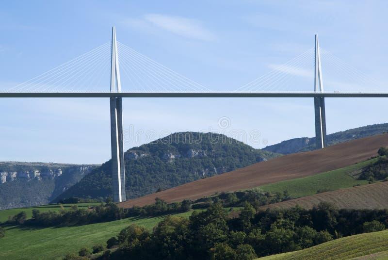 Viaduc de Millau images libres de droits