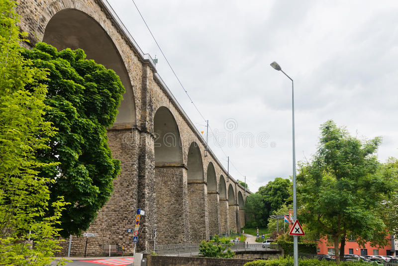 Viaduc du luxembourgeois photographie stock