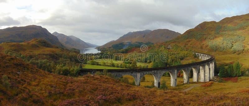 Viaduc et paysage de Glenfinnan photo libre de droits