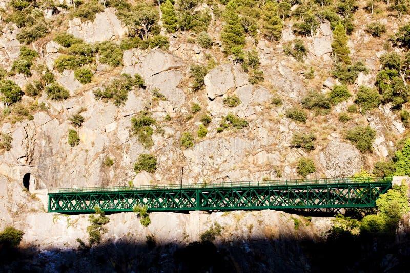 viaduc ferroviaire près de Tua, vallée de Douro, Portugal photo libre de droits