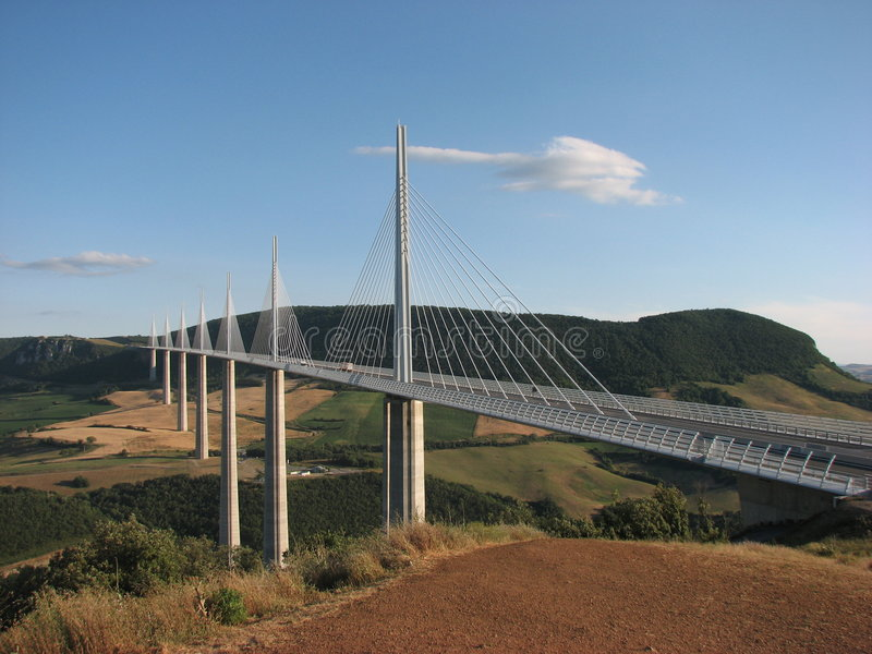Viaduc France de Millau photos libres de droits