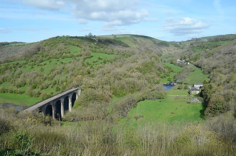 Viaduc principal de Monsal, Derbyshire photo libre de droits