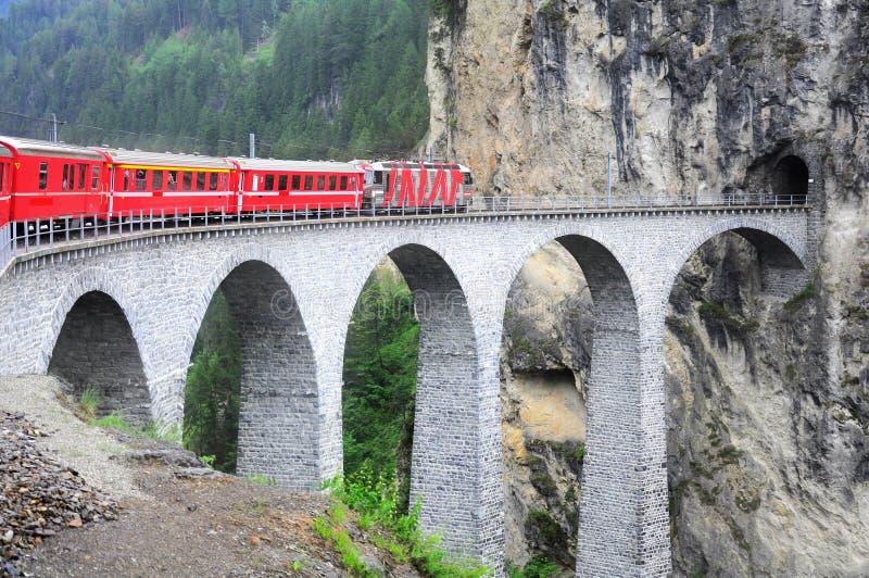 Viaduct de Landwasser. imagem de stock royalty free