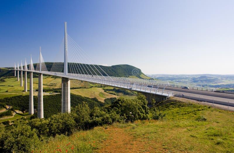Viaduct de Millau imagem de stock
