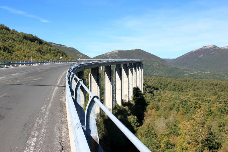 Viaduct in Road SS521, Lazio, Italy stock images