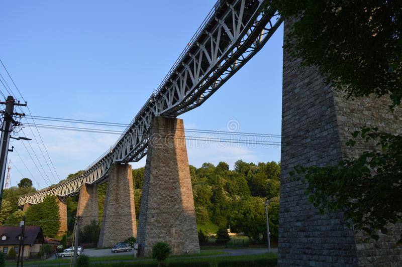 Viaduct in Slovakia stock photography
