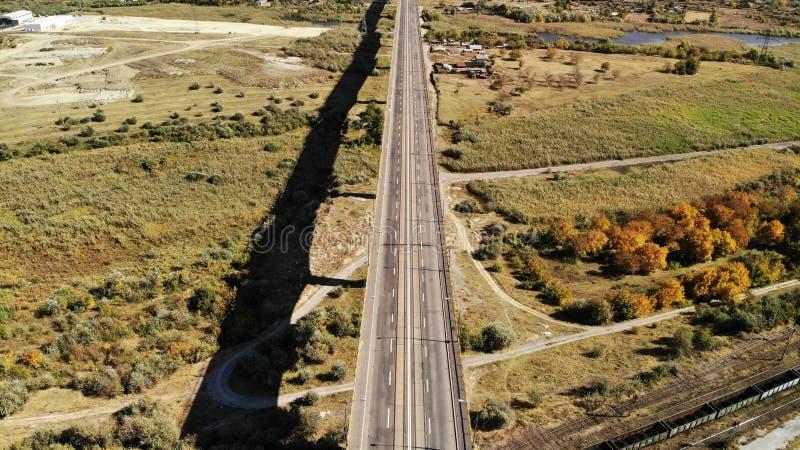 Viaducto - altura Galati Rumania de los 300m fotografía de archivo libre de regalías