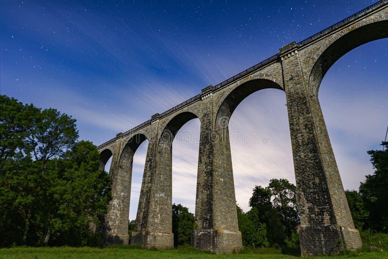 Viaducto de Barbin en Francia imagen de archivo