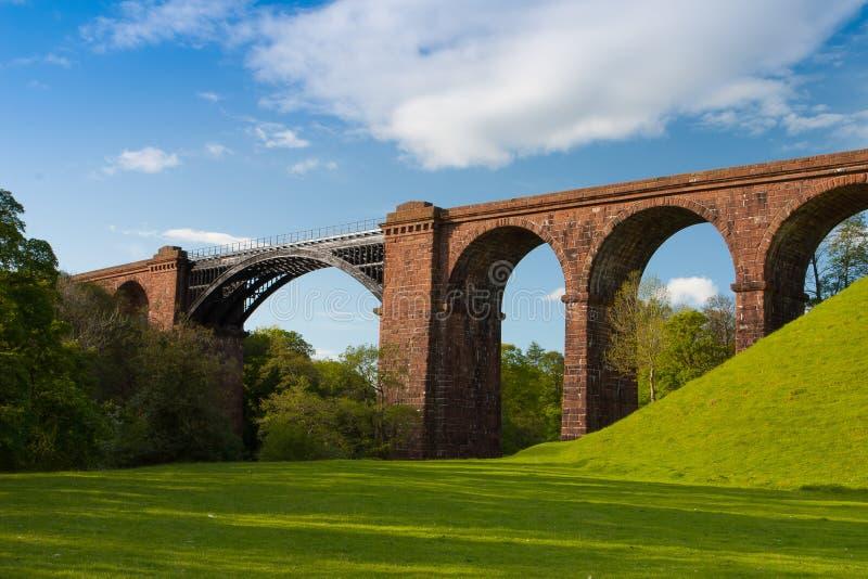 Viaducto de Lune en los valles parque nacional, Gran Bretaña de Yorkshire foto de archivo libre de regalías