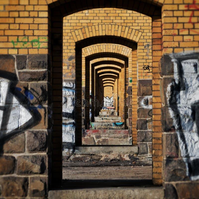 Viaducto en Leipzig foto de archivo