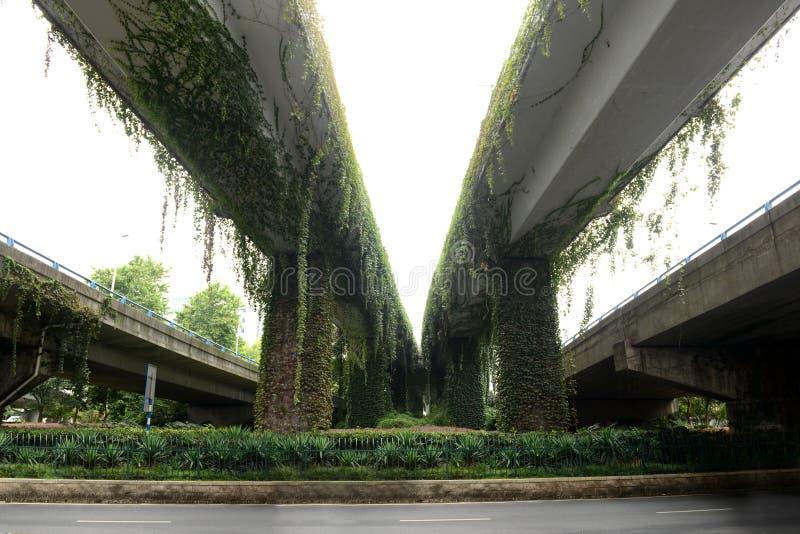 Viaducto-naturaleza y civilización moderna foto de archivo