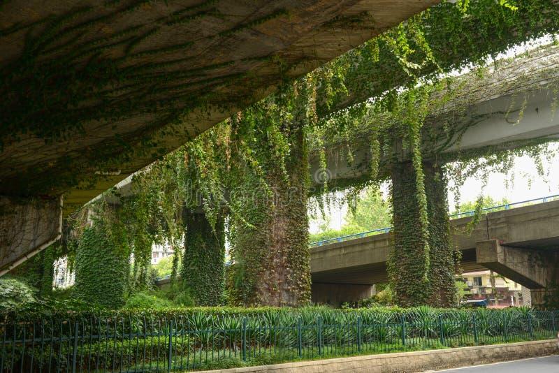 Viaducto-naturaleza y civilización moderna fotos de archivo libres de regalías