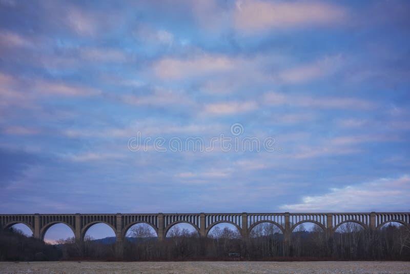 Viaducto Tunkhannock Creek en Nicholson, Pennsylvania, EE.UU. foto de archivo libre de regalías