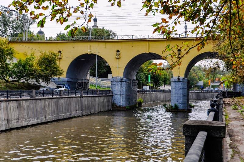 Viadukt för drev royaltyfria foton