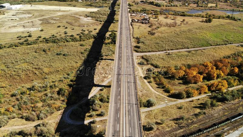Viadukt - 300m Höhe Galati Rumänien lizenzfreie stockfotografie