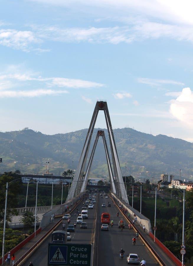 Viaduto de César Gaviria Trujillo fotografia de stock royalty free