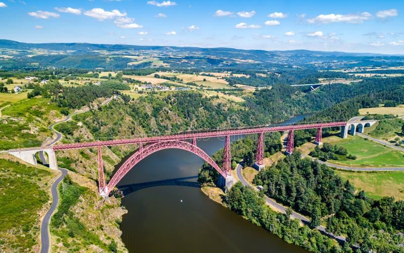 Viaduto de Garabit, uma ponte railway através do Truyere em França fotografia de stock