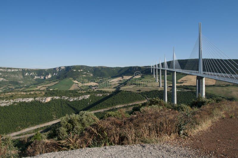 Viaduto de Millau em França do sul no 26 de junho de 2015 fotografia de stock