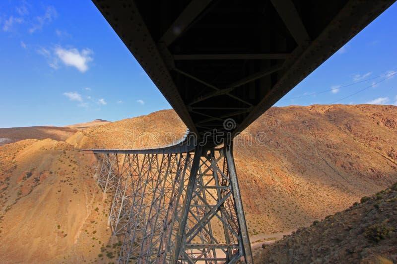 Viaduto de Polvorilla do La, Tren um Las Nubes, ao noroeste de Argentina fotos de stock