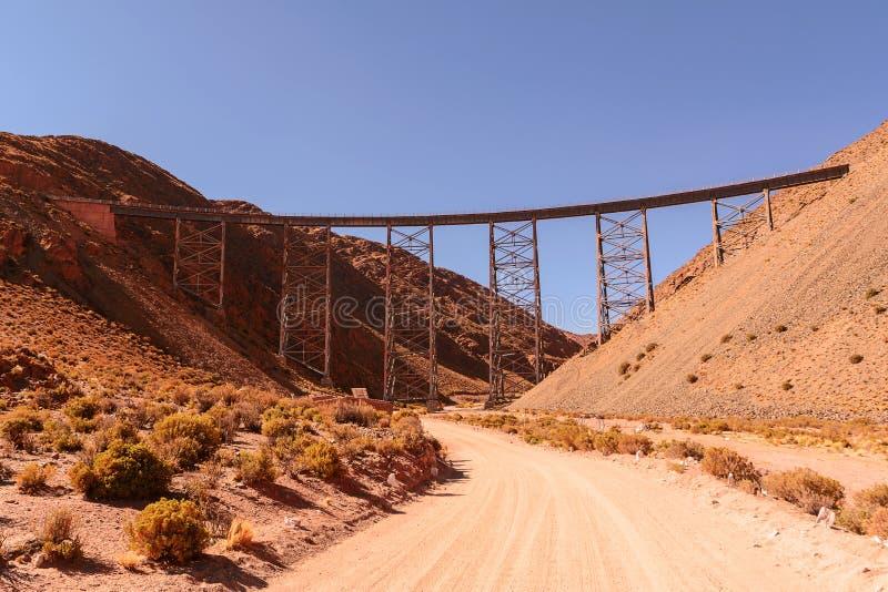 Viaduto de Polvorilla em San Antonio de Los Cobres fotografia de stock