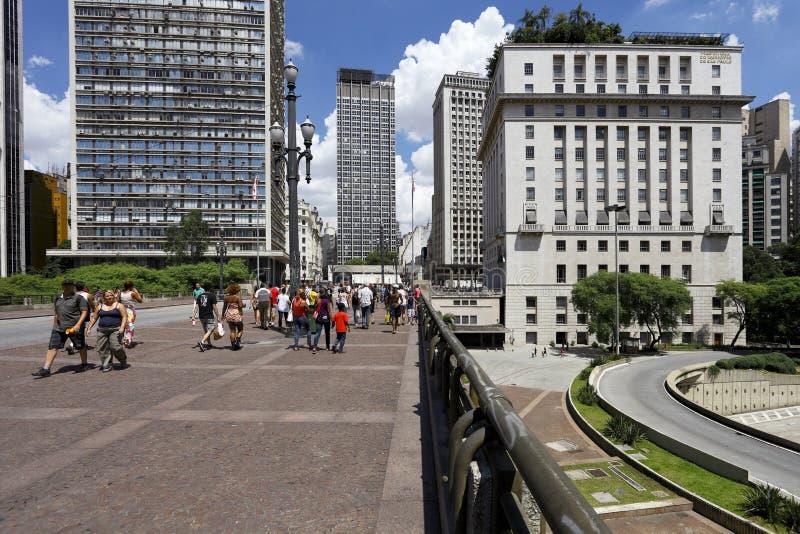 Viaduto font Cha à Sao Paulo - au Brésil images libres de droits