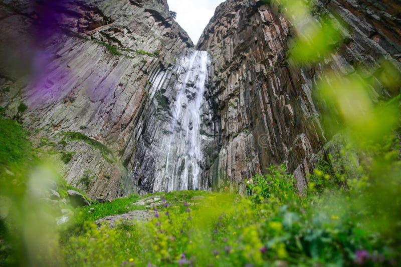 Viagem à cachoeira imagens de stock