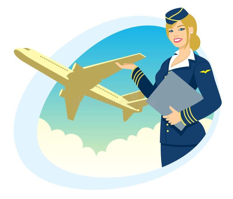 Viagem aérea ilustração royalty free