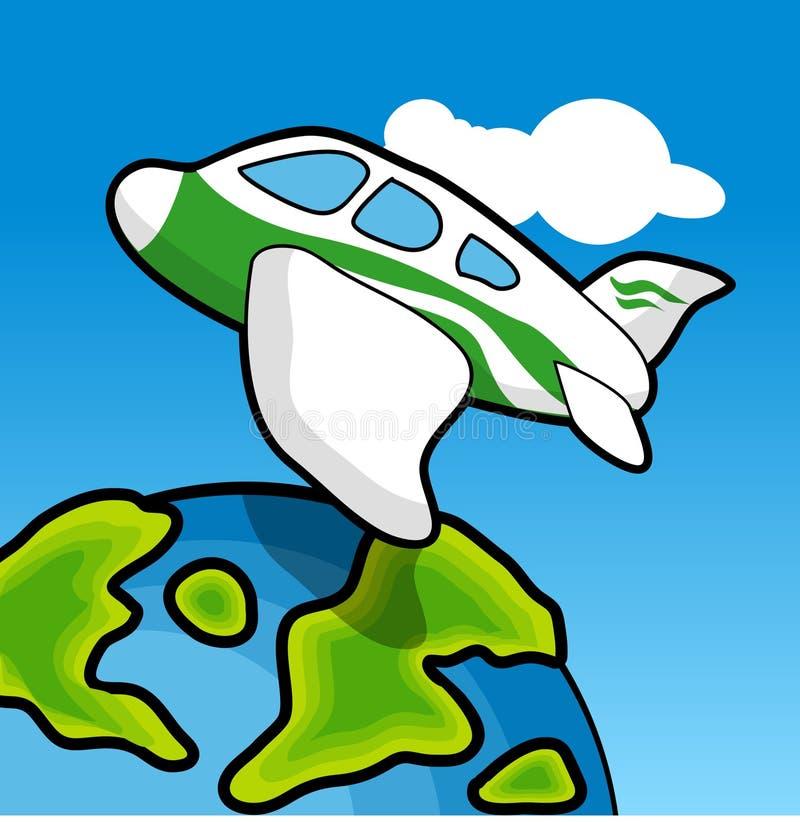 Viagem aérea ilustração do vetor