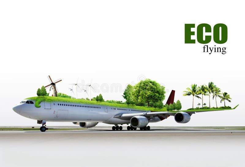 Viagem aérea ecológica imagens de stock royalty free