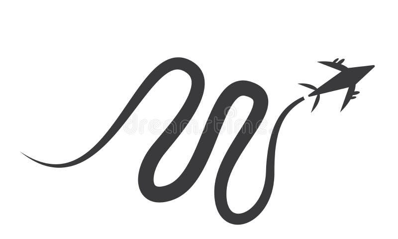 Viagem aérea Logo Design Template - molde do logotipo do curso ilustração stock