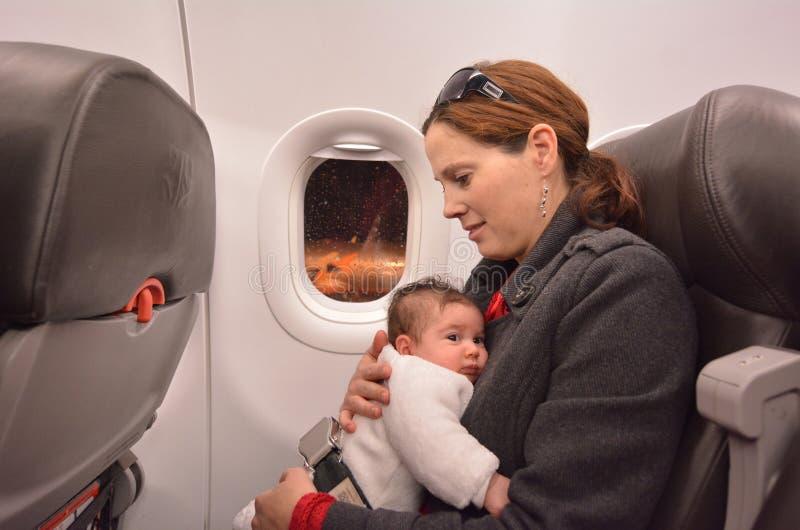 Viagem aérea recém-nascida do bebê foto de stock royalty free