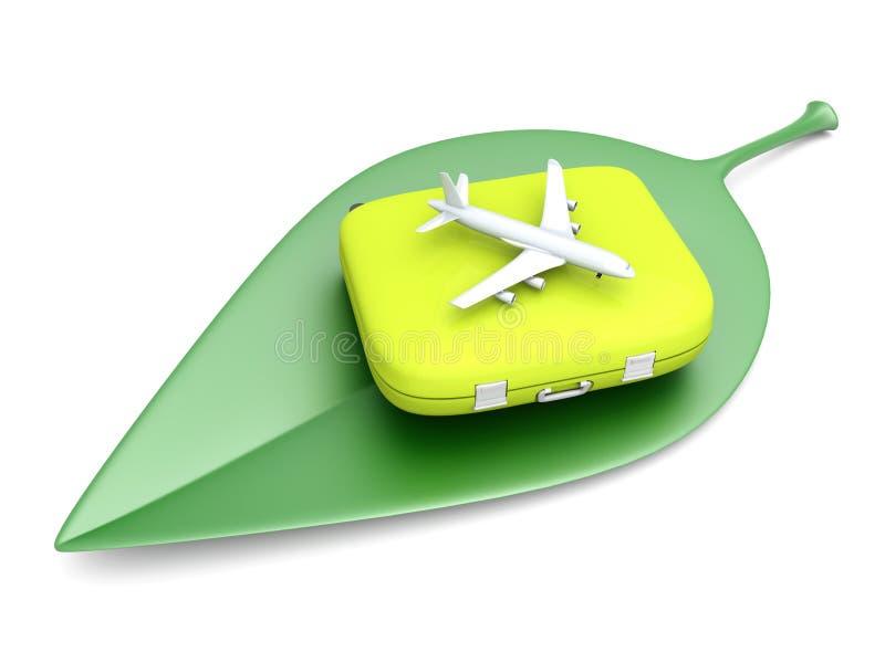 Viagem aérea sustentável ilustração royalty free