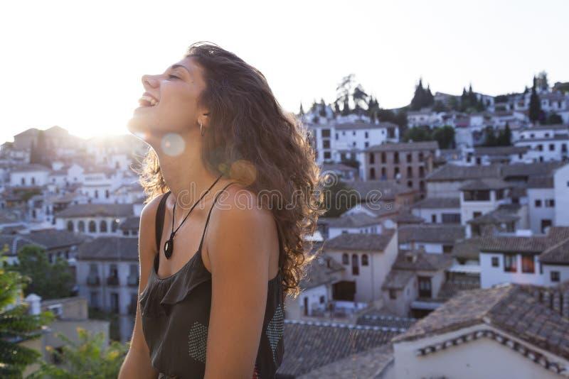 Viagem completamente da felicidade e da alegria fotografia de stock