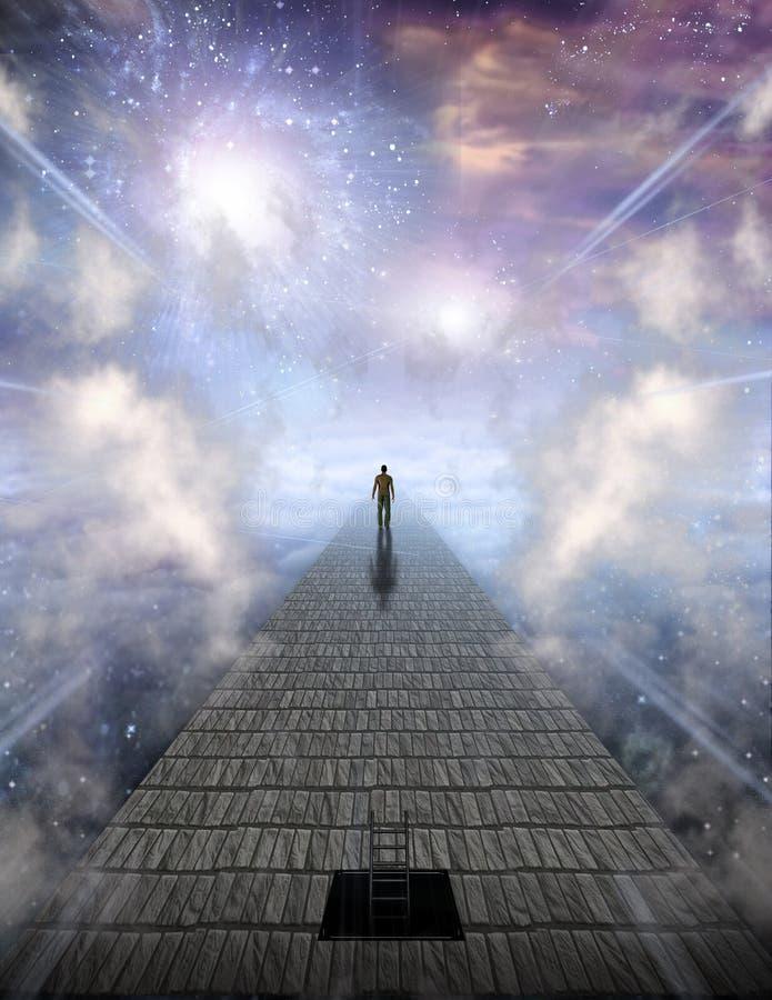 Viagem da alma ilustração do vetor