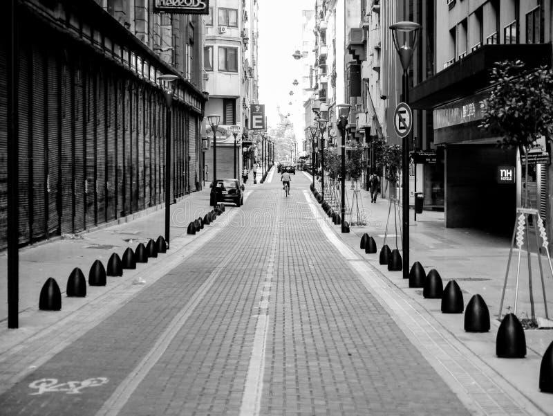 Viagem da bicicleta da rua fotografia de stock