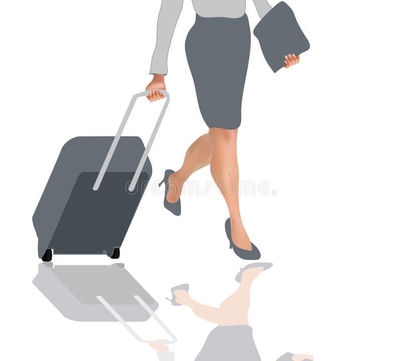 Viagem da mulher ilustração royalty free