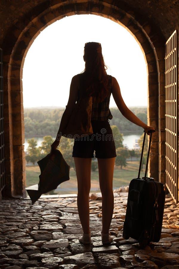 Viagem da mulher fotografia de stock