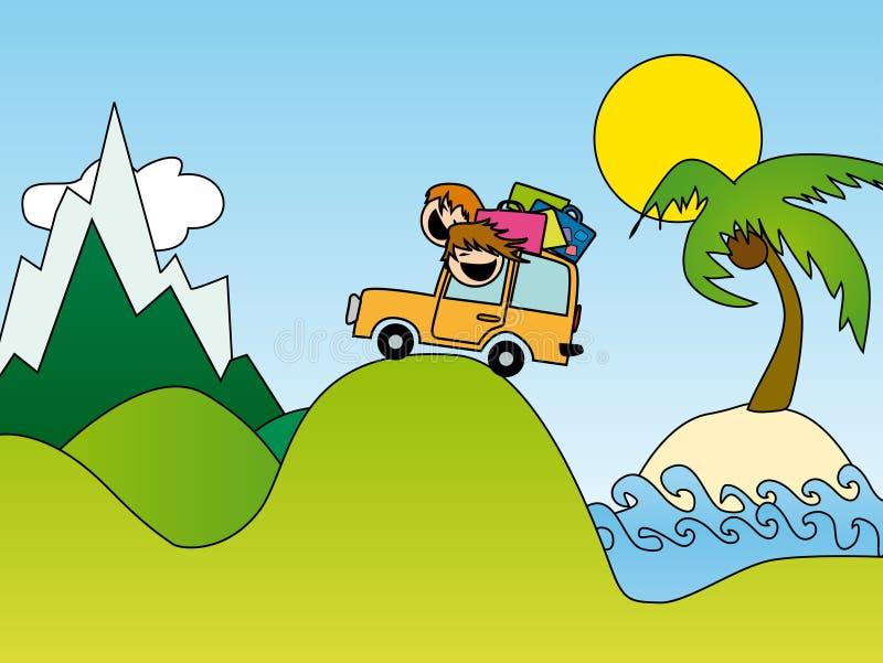 Viagem das férias de verão ilustração royalty free