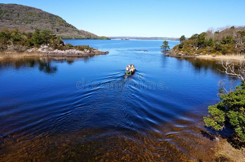 Viagem do barco em killarney ireland fotos de stock