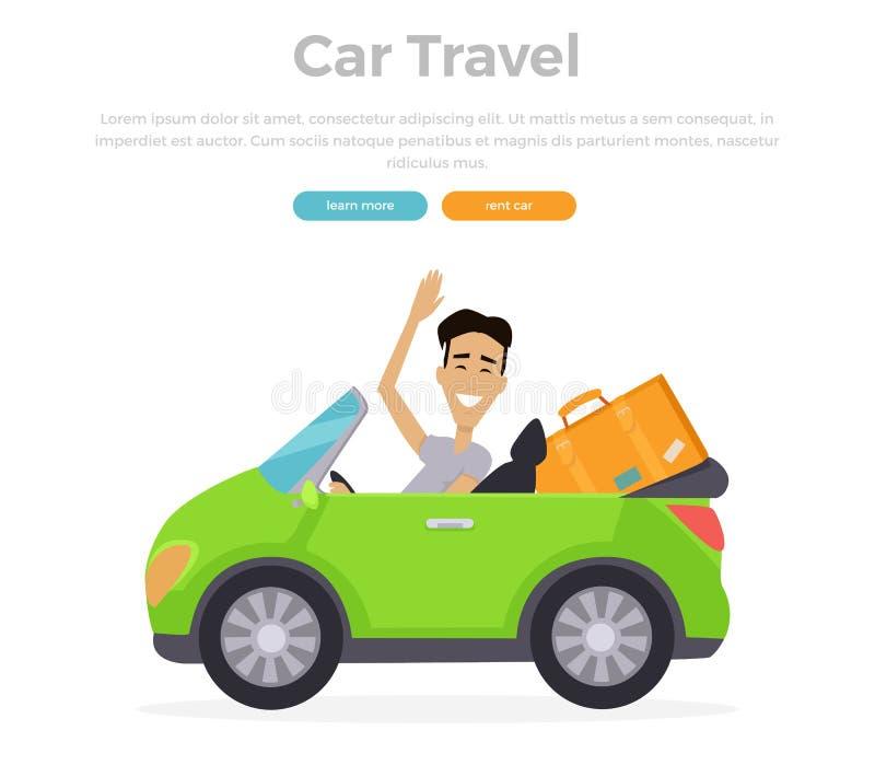 Viagem do carro das férias ilustração royalty free